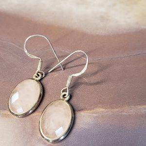 Silpada rose quartz earrings